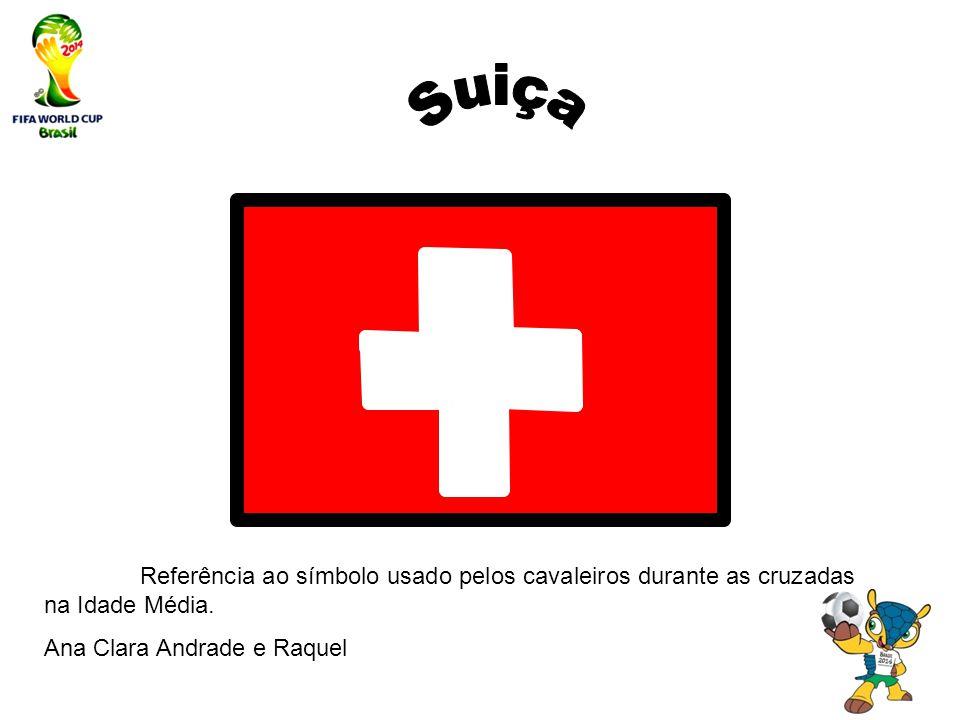 Referência ao símbolo usado pelos cavaleiros durante as cruzadas na Idade Média. Ana Clara Andrade e Raquel