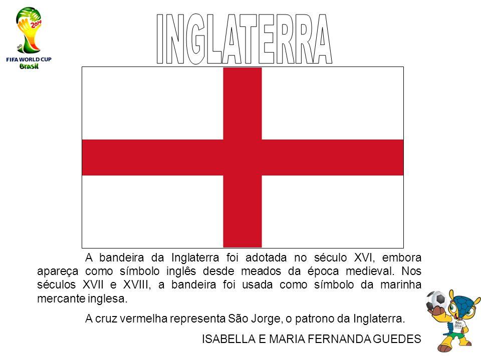 A bandeira da Inglaterra foi adotada no século XVI, embora apareça como símbolo inglês desde meados da época medieval. Nos séculos XVII e XVIII, a ban