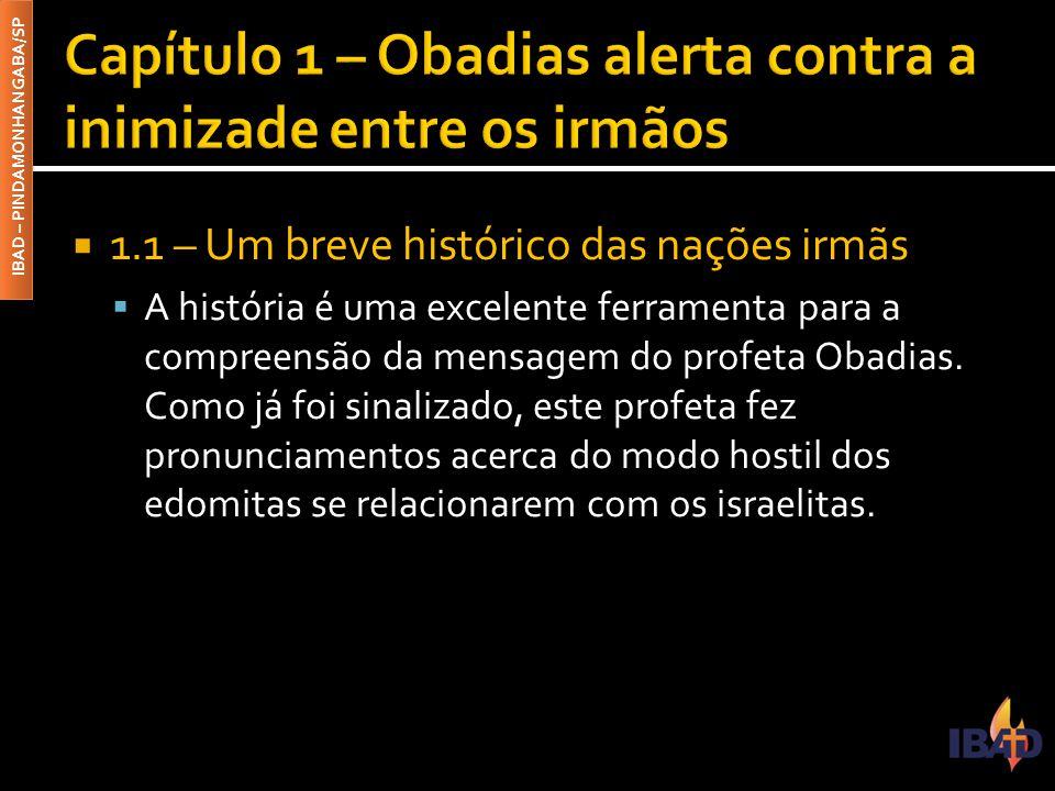 IBAD – PINDAMONHANGABA/SP  1.1 – Um breve histórico das nações irmãs  A história é uma excelente ferramenta para a compreensão da mensagem do profet