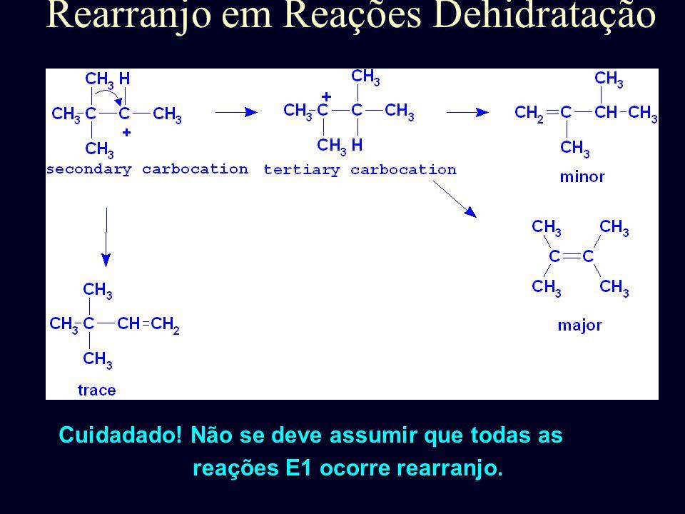 Rearranjo em Reações Dehidratação Carboátion secundário