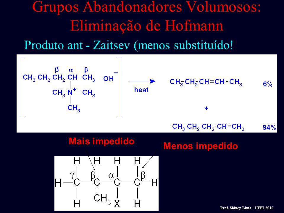 E1 = pode formar produtos de rearranjo. E2 = Sem rearranjo. Reações de dehidratação de álcoois são E1. E1 = em uma única etapa (dois ou mais) formação