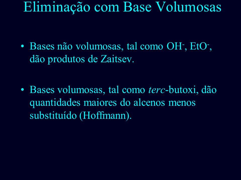 Grupos Abandonadores Volumosos: Eliminação de Hofmann Produto ant - Zaitsev (menos substituído! Menos impedido Mais impedido Prof. Sidney Lima – UFPI