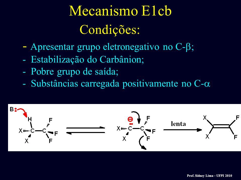 Mecanismo E1cb Rápida Lenta V = K [R-X] [B]