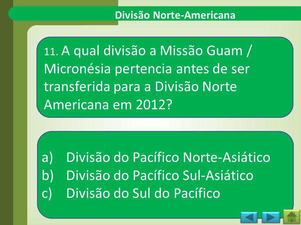 Divisão Norte-Americana 11.