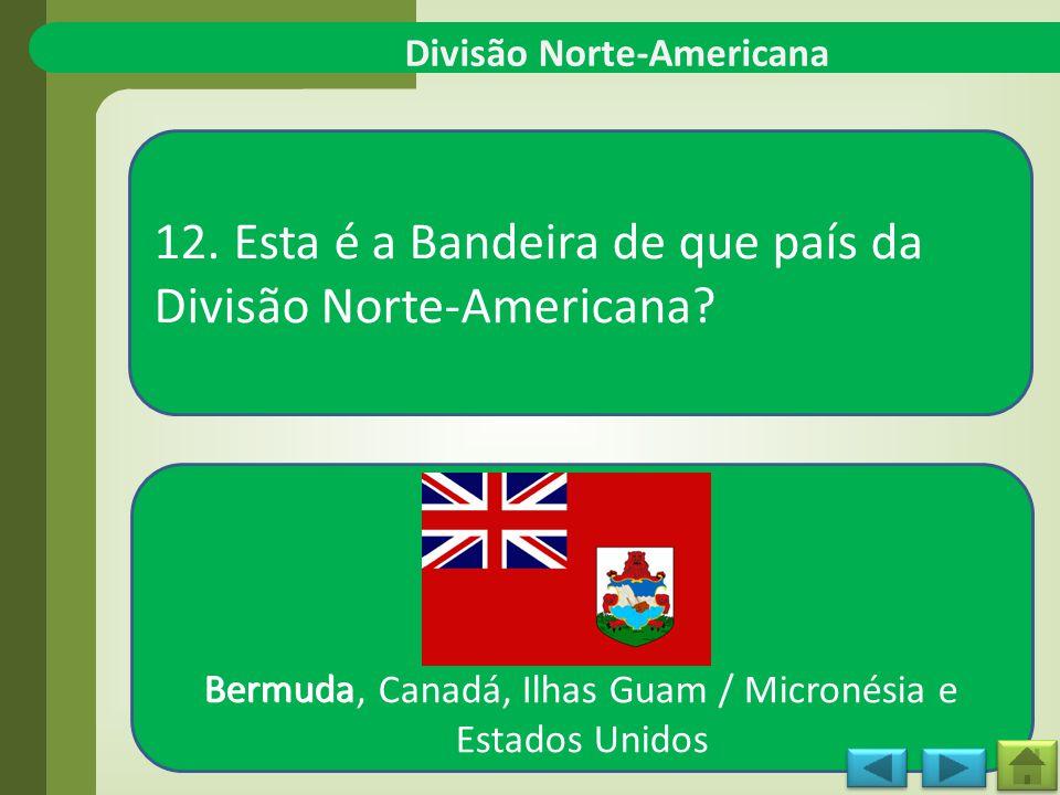 Divisão Norte-Americana 12.Esta é a Bandeira de que país da Divisão Norte-Americana.