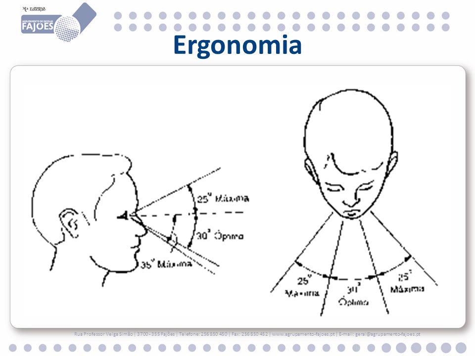 Ergonomia Rua Professor Veiga Simão | 3700 - 355 Fajões | Telefone: 256 850 450 | Fax: 256 850 452 | www.agrupamento-fajoes.pt | E-mail: geral@agrupam