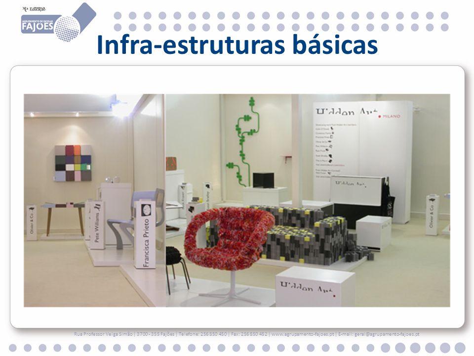 Infra-estruturas básicas Rua Professor Veiga Simão | 3700 - 355 Fajões | Telefone: 256 850 450 | Fax: 256 850 452 | www.agrupamento-fajoes.pt | E-mail: geral@agrupamento-fajoes.pt