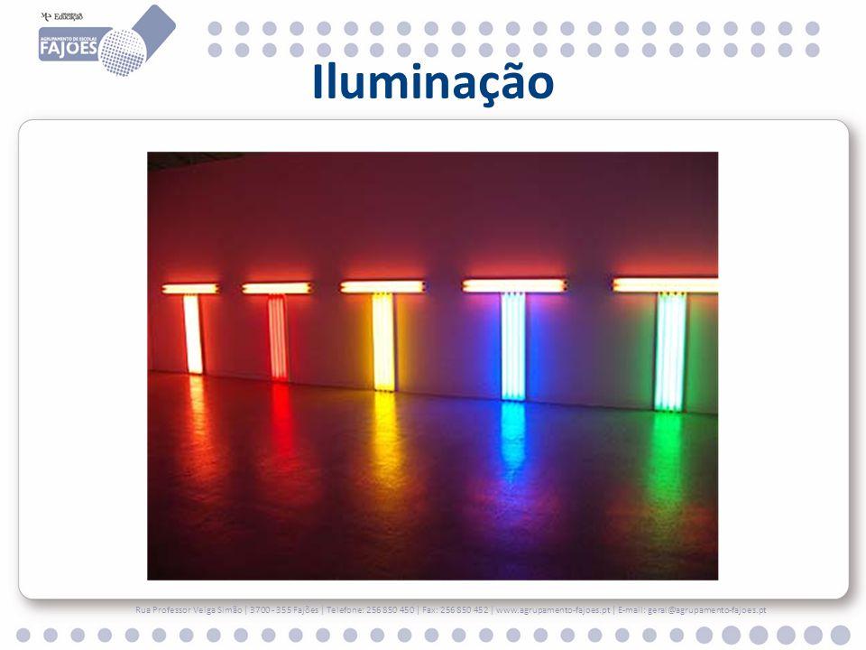 Iluminação A iluminação é um aspecto chave, num espaço destinado a exposições.