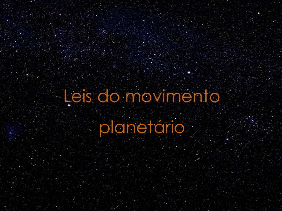 Leis do movimento planetário