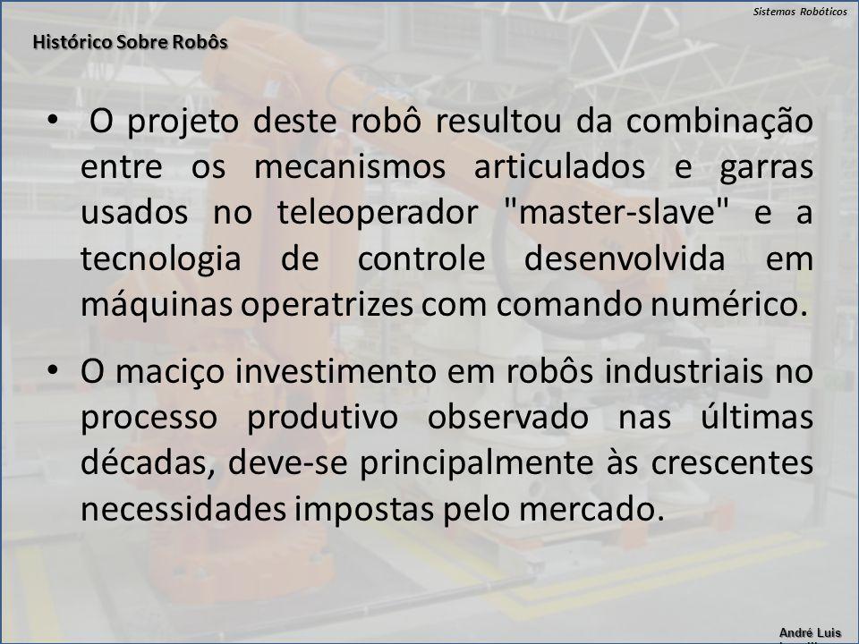 Sistemas Robóticos André Luis Lapolli O projeto deste robô resultou da combinação entre os mecanismos articulados e garras usados no teleoperador