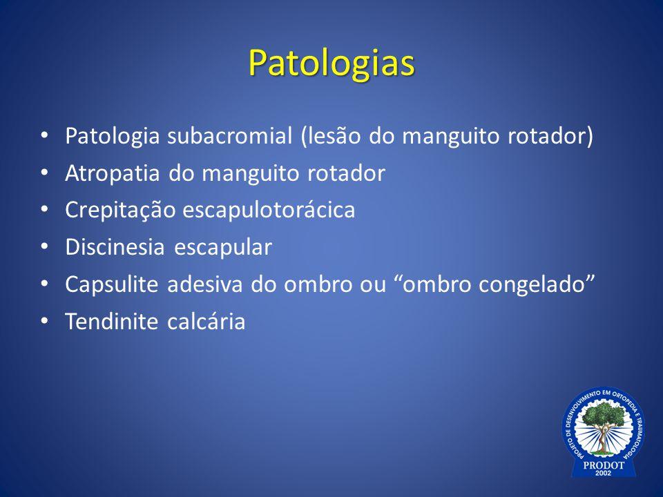 Tendinite calcária - Fisiopatologia Fase de pós-calcificação: – Tecido de granulação – Remodelação – Retorno à configuração normal do tendão