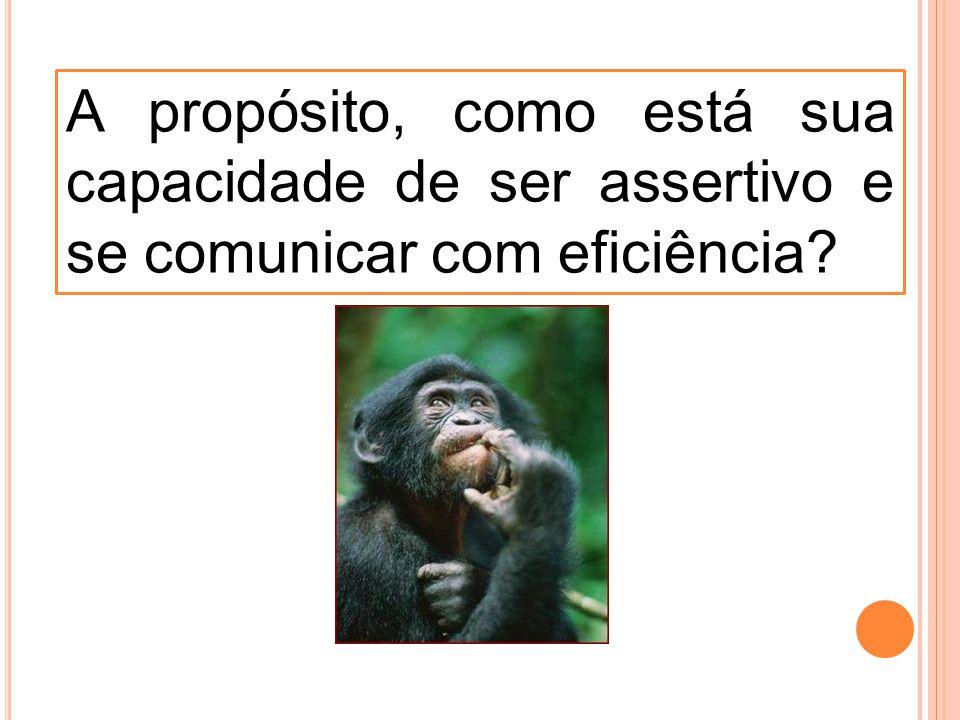 A propósito, como está sua capacidade de ser assertivo e se comunicar com eficiência?