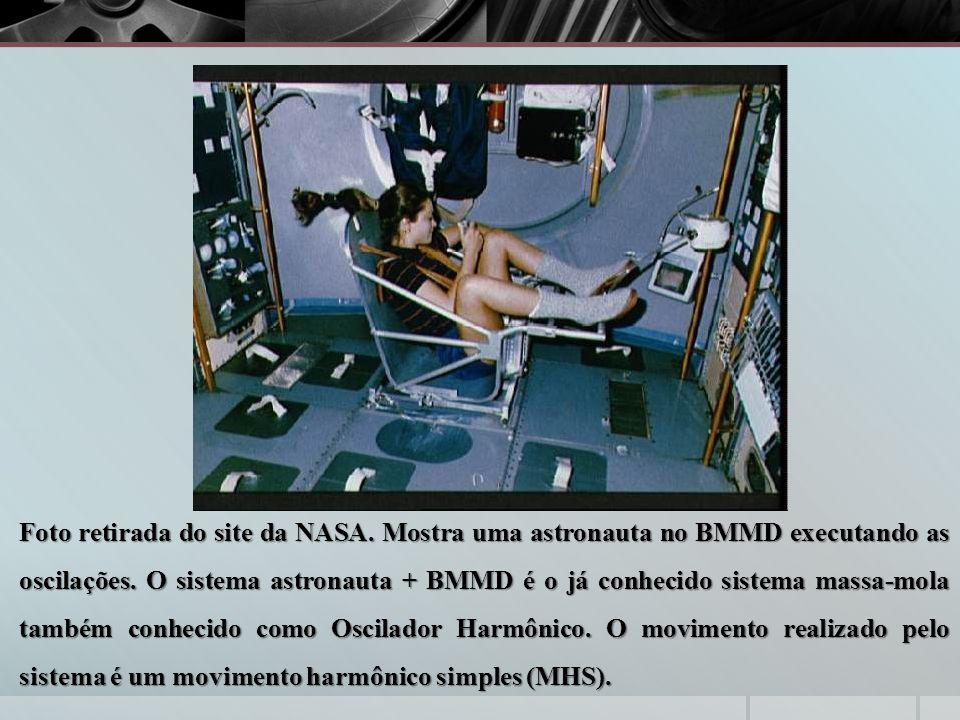 Foto retirada do site da NASA.Mostra uma astronauta no BMMD executando as oscilações.
