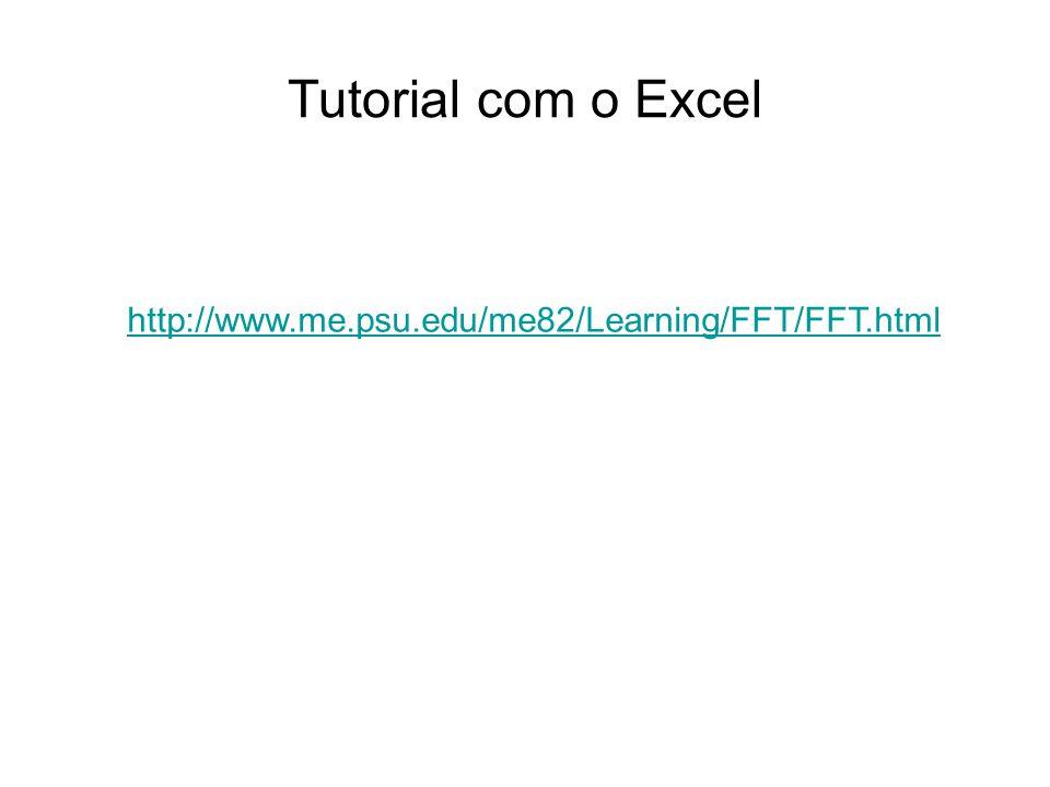 Tutorial com o Excel http://www.me.psu.edu/me82/Learning/FFT/FFT.html