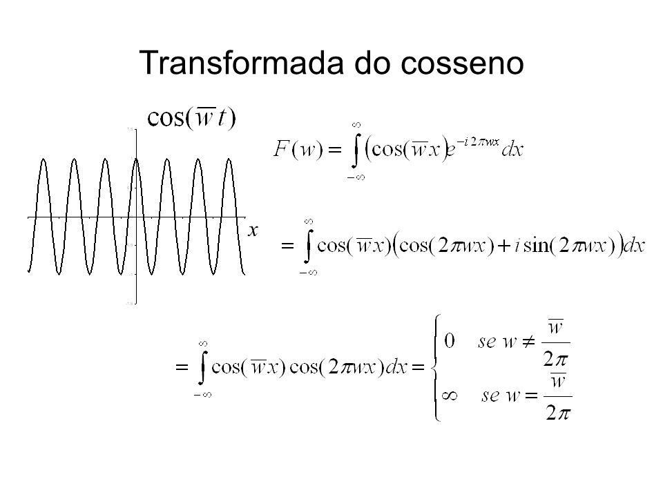 Transformada do cosseno x