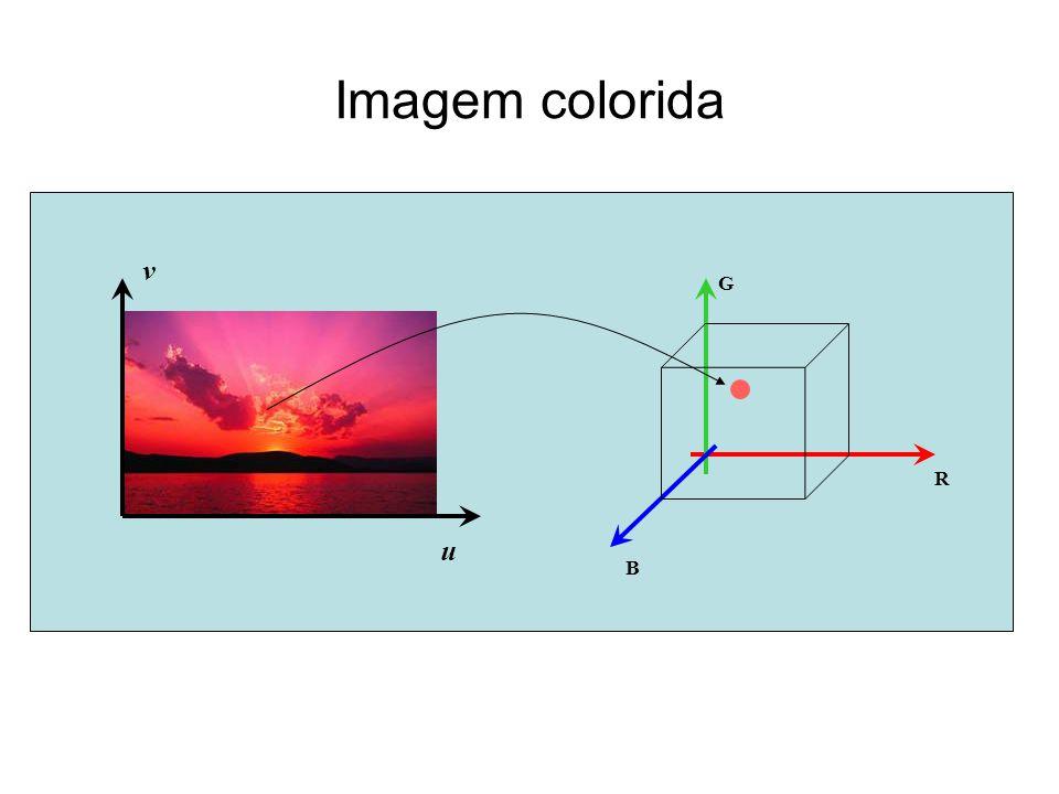 Imagem colorida R G B u v