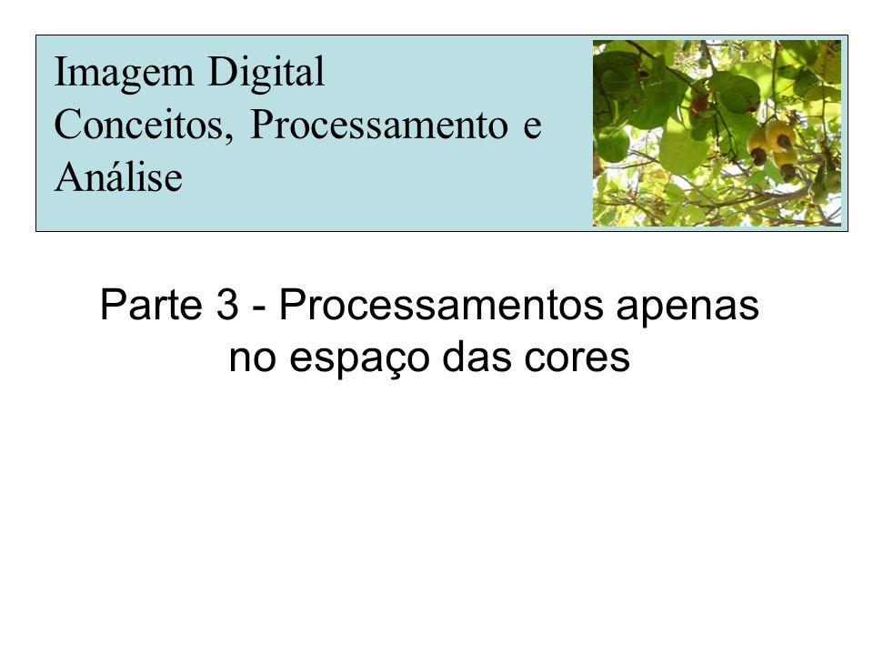 Parte 3 - Processamentos apenas no espaço das cores Imagem Digital Conceitos, Processamento e Análise