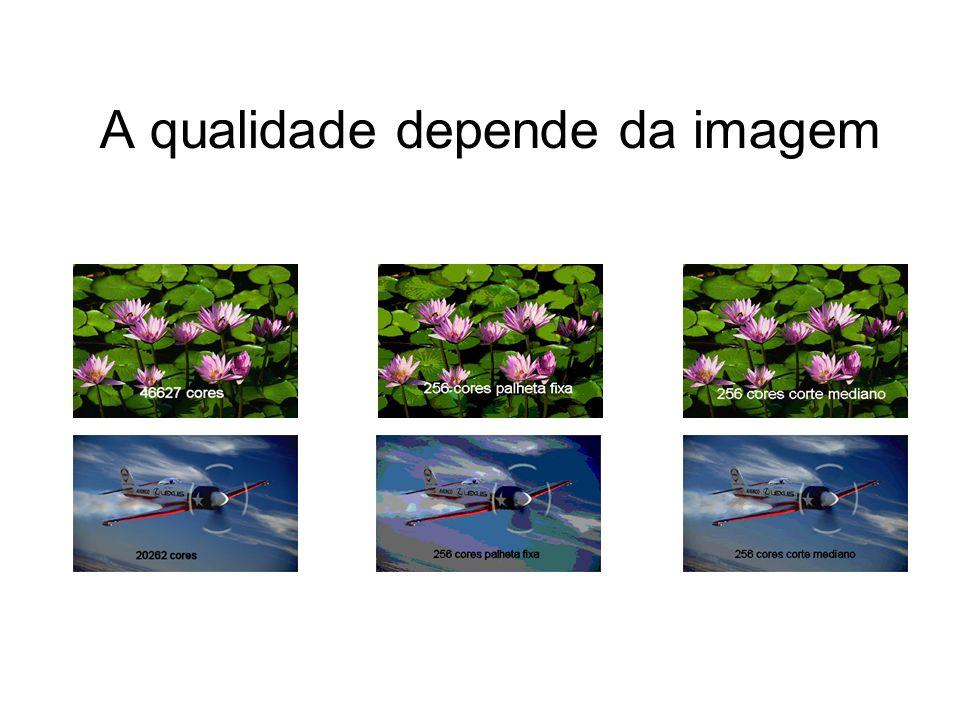 A qualidade depende da imagem