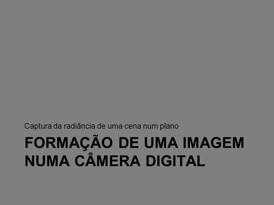 FORMAÇÃO DE UMA IMAGEM NUMA CÂMERA DIGITAL Captura da radiância de uma cena num plano