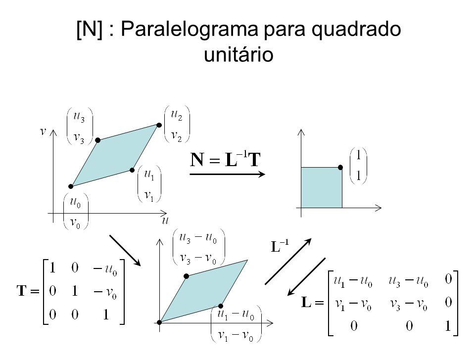 [N] : Paralelograma para quadrado unitário