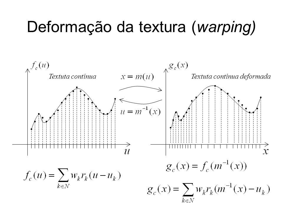 Deformação da textura (warping) Textuta contínua deformadaTextuta contínua