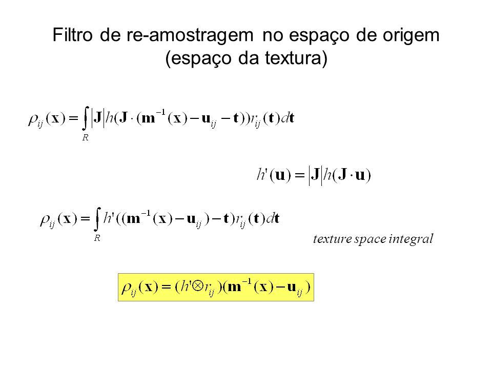 texture space integral