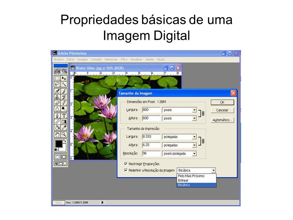 Propriedades básicas de uma Imagem Digital