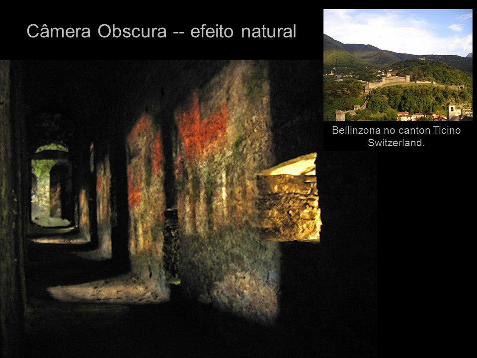 Câmera Obscura -- efeito natural Bellinzona no canton Ticino Switzerland.