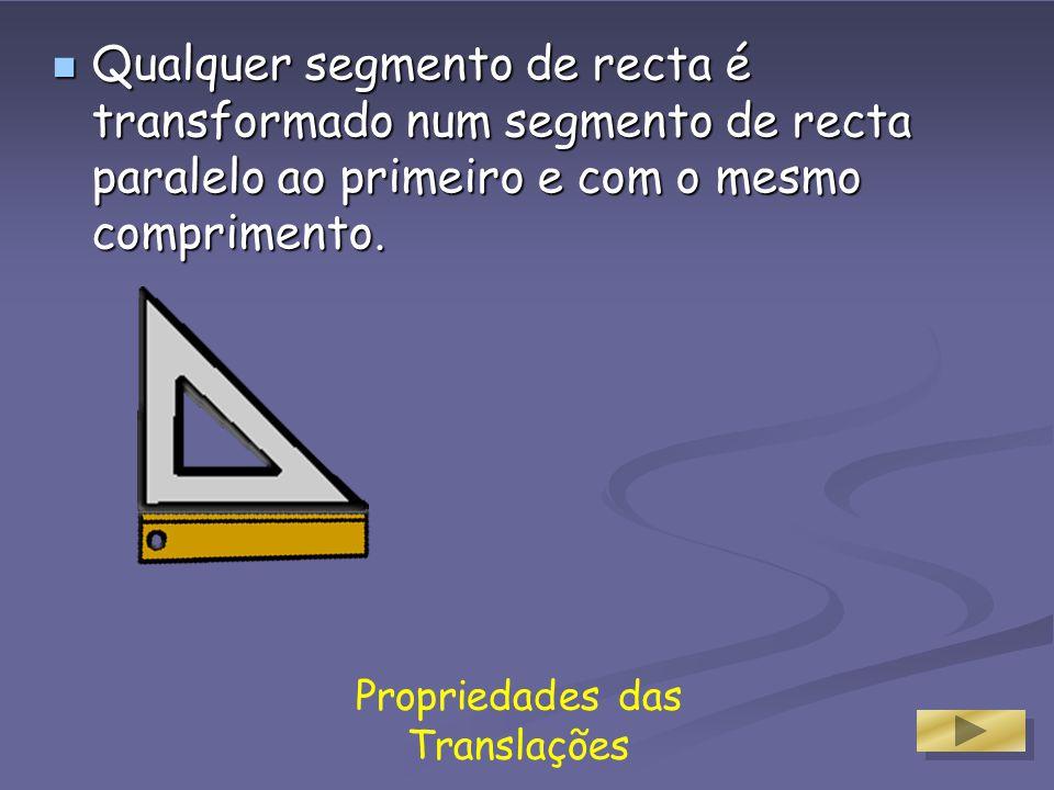 Propriedades das Translações A figura original e a transformada são geometricamente iguais.
