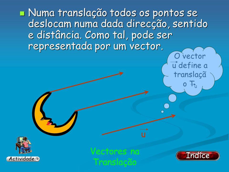 Vectores na Translação Os restantes vectores diferem na direcção, no sentido e/ou no comprimento. Os restantes vectores diferem na direcção, no sentid