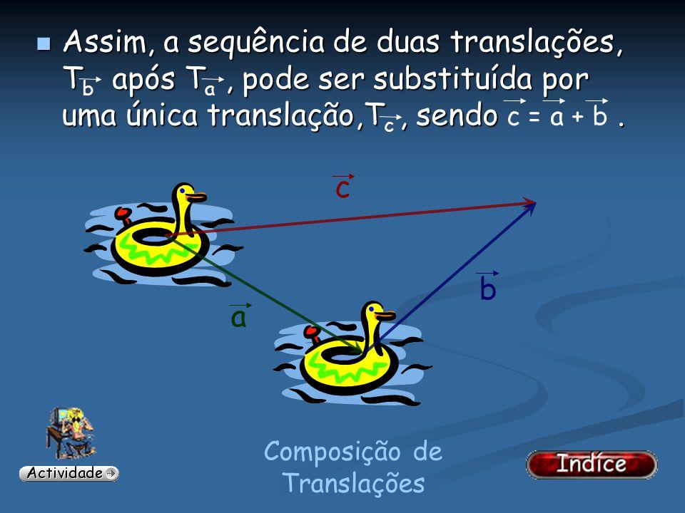Composição de Translações...que consiste em construir um paralelogramo em que os lados são representações dos vectores e o vector soma é a sua diagona