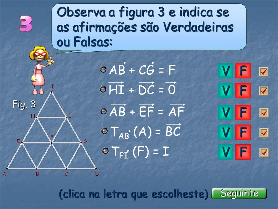 u Qual é a figura que é resultante de uma translação da figura 2 segundo o vector u ? (clica na figura que escolheste) Fig. 2