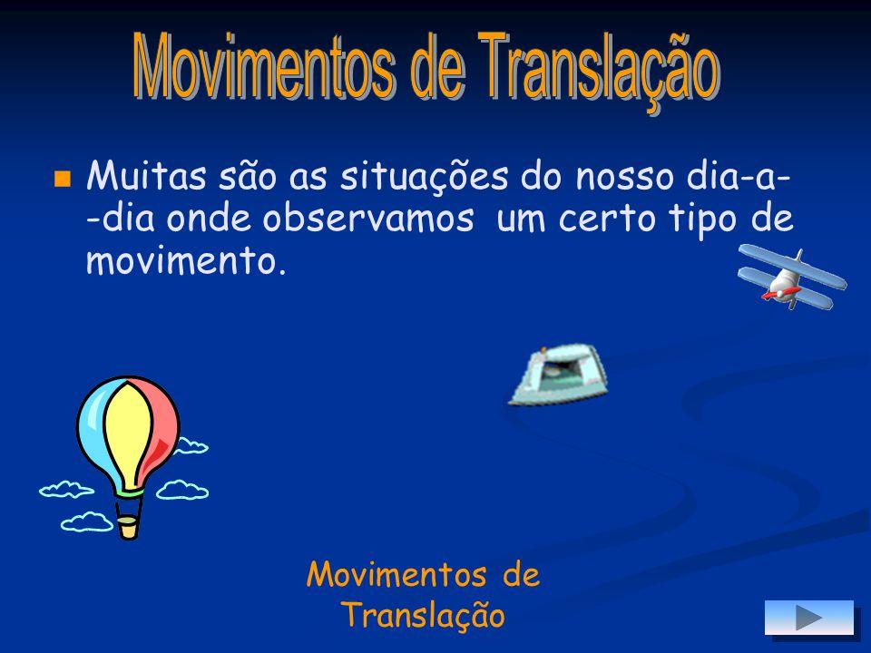 Movimento de Translação Movimento de Translação Propriedades das Translações Propriedades das Translações Dos Vectores para a Translação Dos Vectores