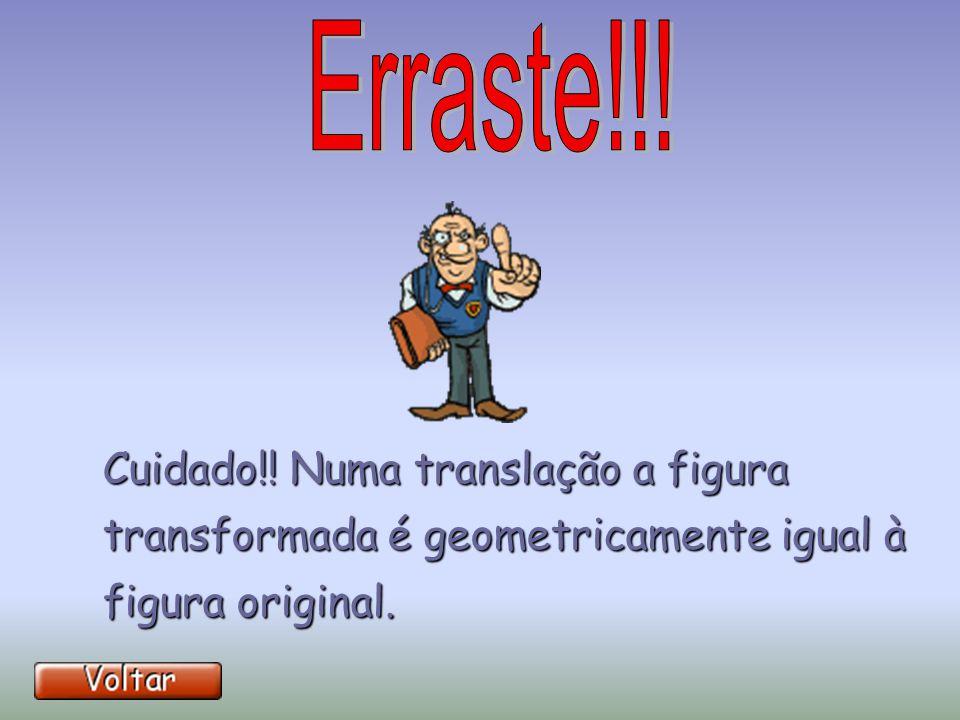 Não te esqueças que no movimento de translação a figura não roda!! Não te esqueças que no movimento de translação a figura não roda!!