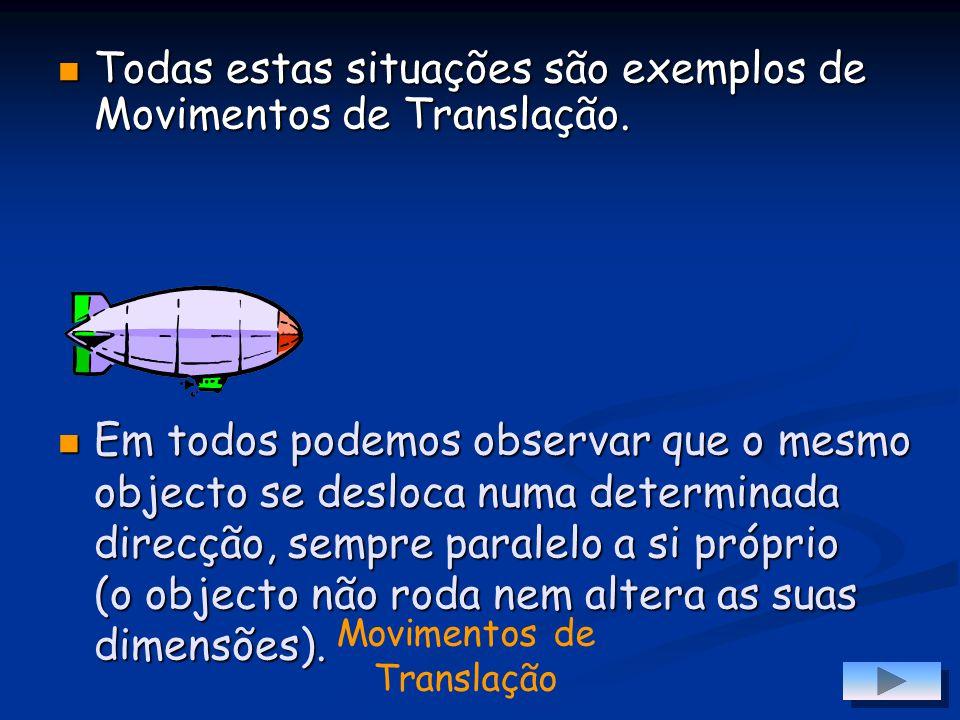 Movimentos de Translação Muitas são as situações do nosso dia-a- -dia onde observamos um certo tipo de movimento.