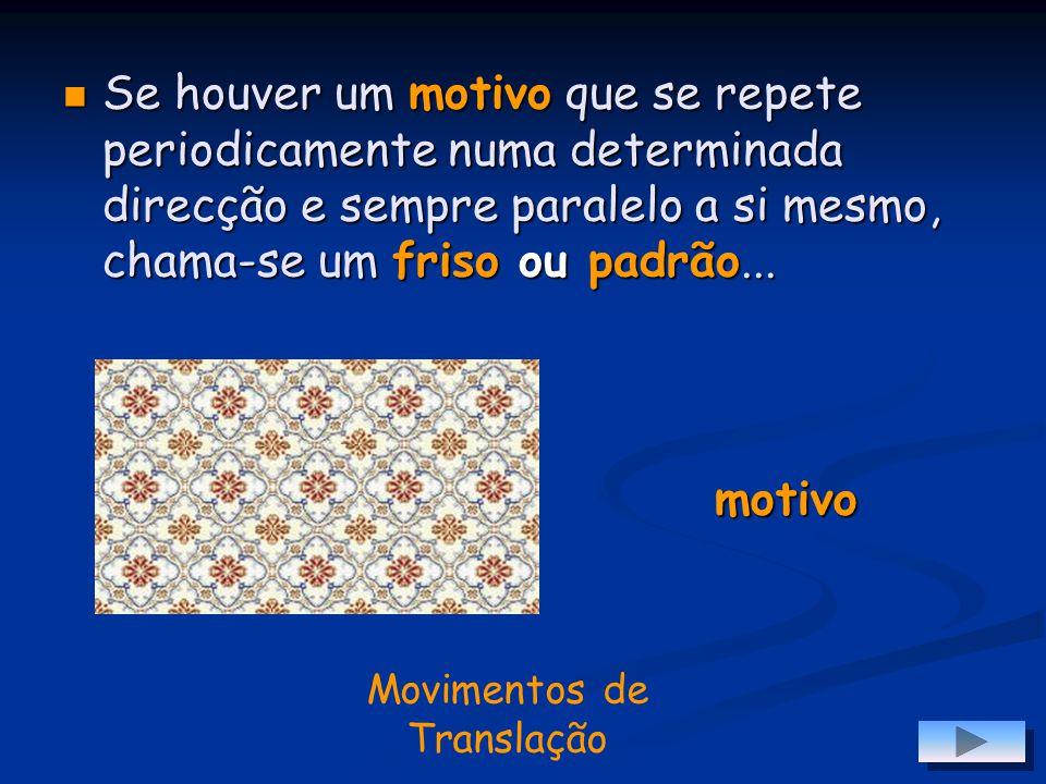 Movimentos de Translação 8 7 6 5 4 3 2 1 abcdefgh Outros exemplos são alguns jogos, como é o caso do Xadrez. Aqui, as peças movem-se por específicos m