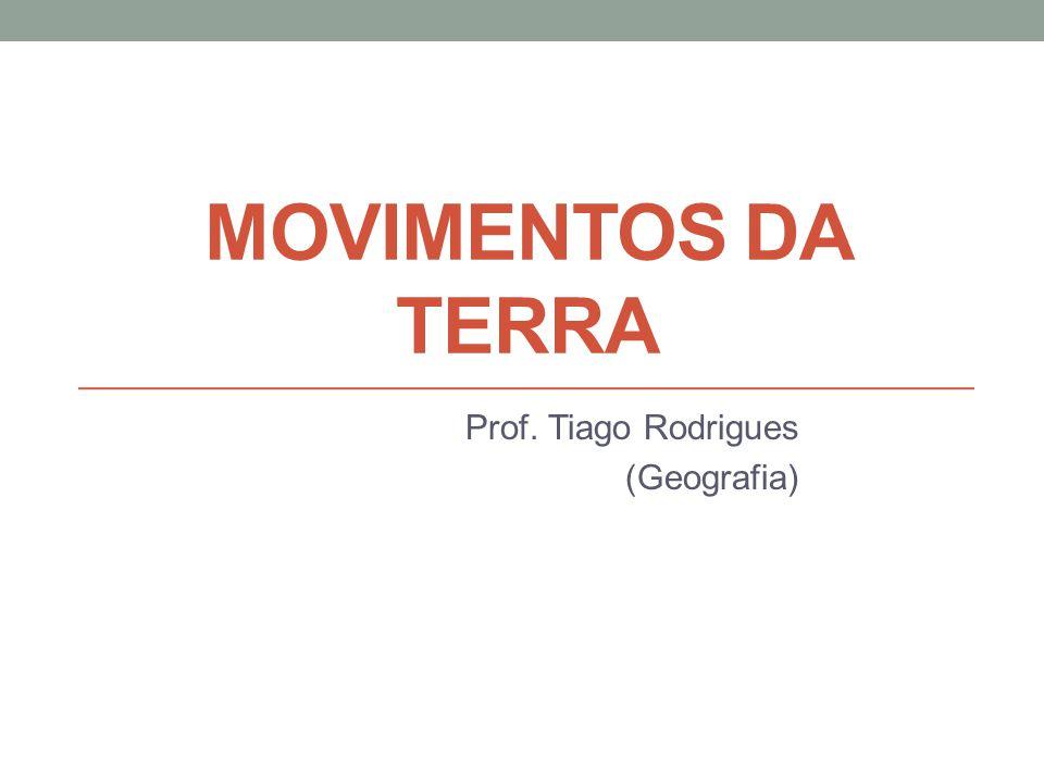 MOVIMENTOS DA TERRA Prof. Tiago Rodrigues (Geografia)