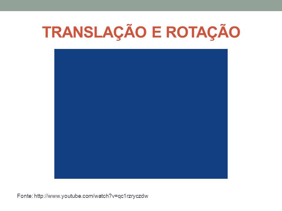 TRANSLAÇÃO E ROTAÇÃO Fonte: http://www.youtube.com/watch?v=qc1rzryczdw