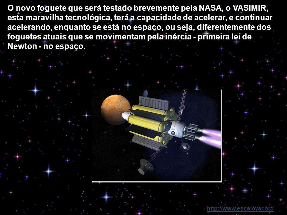 http://www.escolovar.org Com a tecnologia que temos atualmente uma viagem ao planeta vermelho duraria cerca de 8 meses; no entanto, deu-se um avanço n
