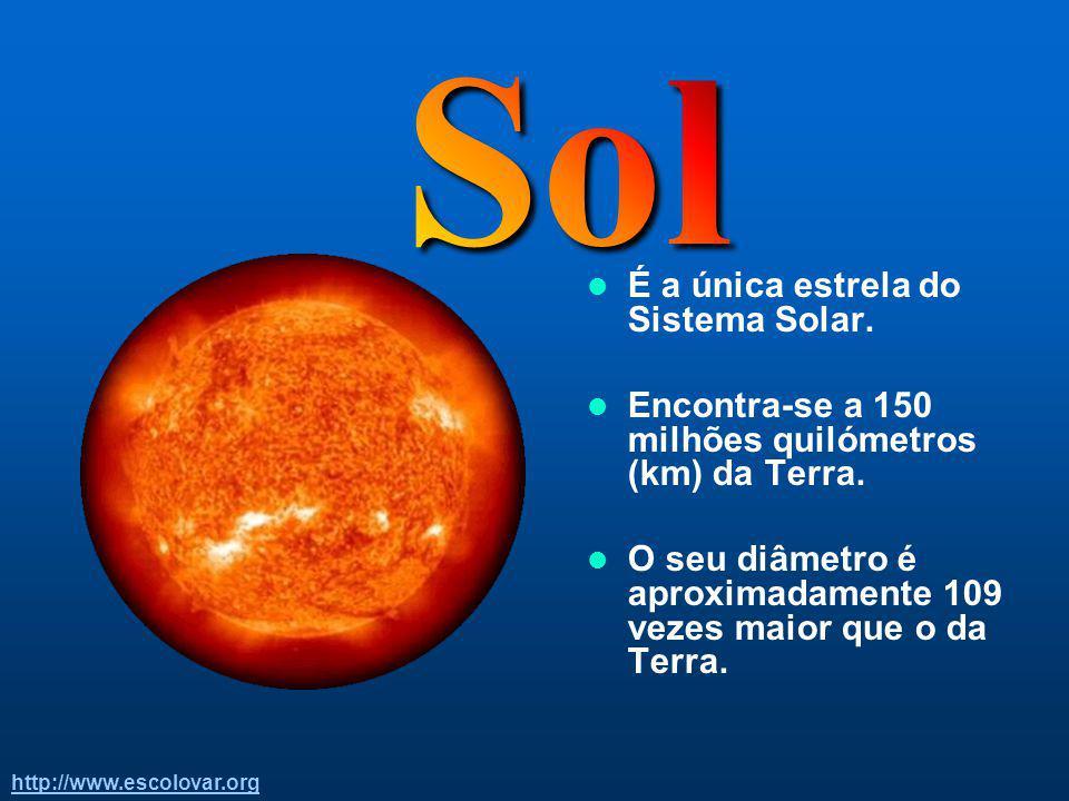 http://www.escolovar.org O Sistema Solar é o nosso sistema planetário. Foi criado há cerca de 4600 M.a. (Milhões de anos). Para além do Sol existem no