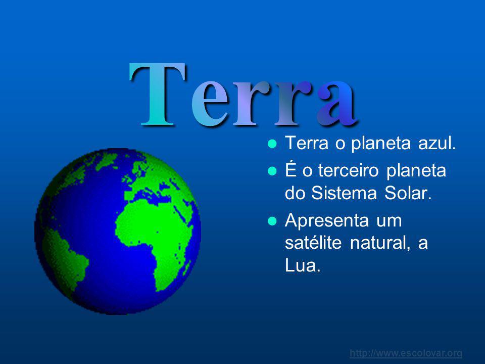 http://www.escolovar.org Segundo planeta do Sistema Solar. A sua temperatura ultrapassa os 450 ºC. A sua atmosfera é muito densa.