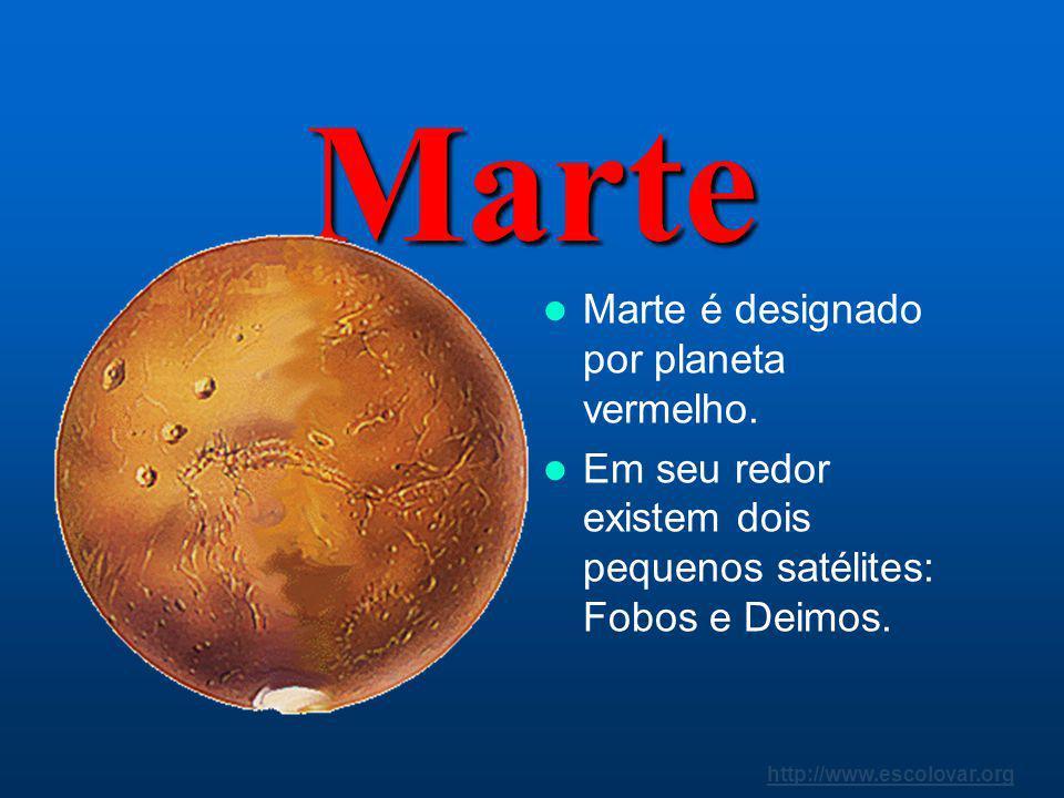 http://www.escolovar.org Terra o planeta azul. É o terceiro planeta do Sistema Solar. Apresenta um satélite natural, a Lua.