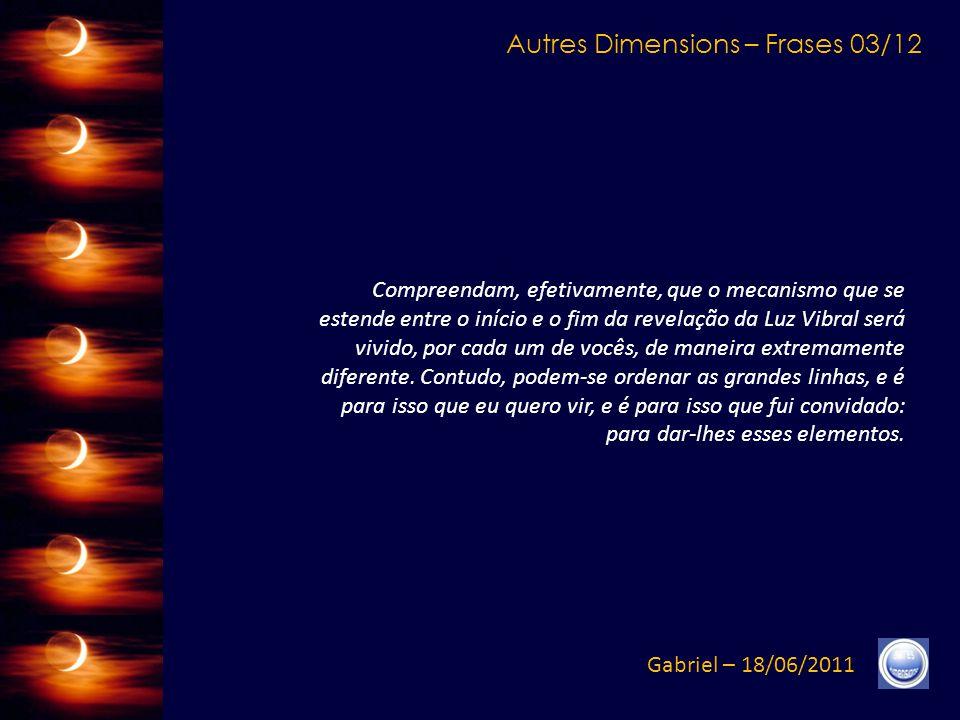 Autres Dimensions – Créditos Gabriel – 18/06/2011 Música (Trecho): Marcus Viana - Acqua2 - Romance Original Texto: http://www.autresdimensions.com/article.php?produit=1073http://www.autresdimensions.com/article.php?produit=1073 Versão do francês: Célia G.