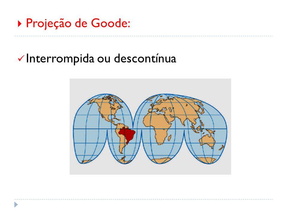  Projeção de Goode: Interrompida ou descontínua