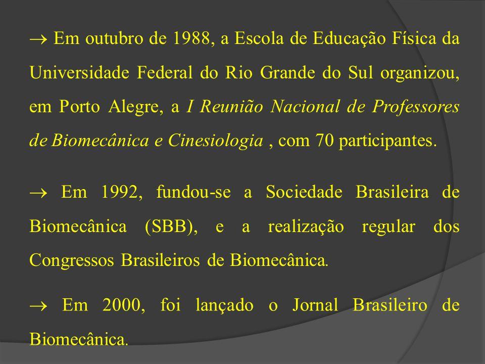  Em outubro de 1988, a Escola de Educação Física da Universidade Federal do Rio Grande do Sul organizou, em Porto Alegre, a I Reunião Nacional de Pro