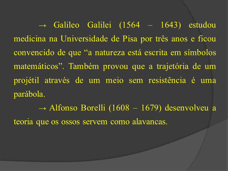 """→ Galileo Galilei (1564 – 1643) estudou medicina na Universidade de Pisa por três anos e ficou convencido de que """"a natureza está escrita em símbolos"""