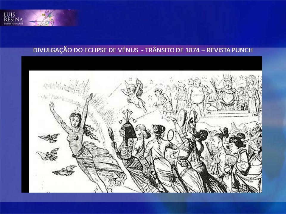 DIVULGAÇÃO DO ECLIPSE DE VÉNUS - TRÂNSITO DE 1874 – REVISTA PUNCH