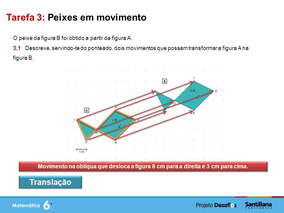 Tarefa 3: Peixes em movimento O peixe da figura B foi obtido a partir da figura A.