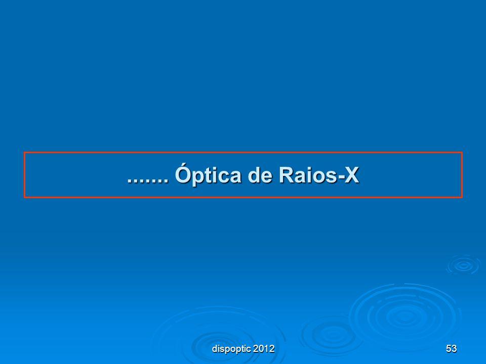 53....... Óptica de Raios-X dispoptic 2012
