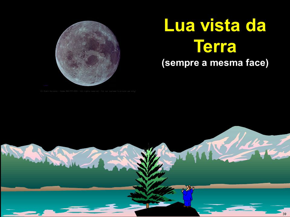 Lua vista da Terra (sempre a mesma face) 39